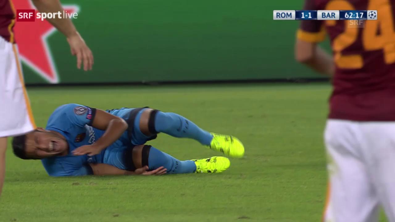 Fussball: CL, Roma - Barcelona, Verletzung Rafinha