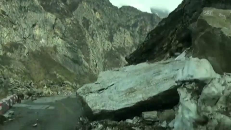 Massiver Steinschlag
