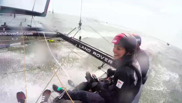 Video «Herzogin Catherine auf der Segeljacht (unkomm.)» abspielen