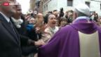 Video «Papst Franziskus' erstes Angelus-Gebet» abspielen