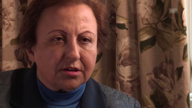 Video «So sieht Friedensnobelpreisträgerin Ebadi die Lage im Iran» abspielen