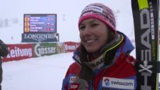 Video «Ski: Slalom Kühtai, Interview Wendy Holdener» abspielen