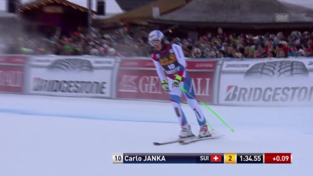 Video «Ski alpin: Super-G in Gröden, Carlo Janka» abspielen