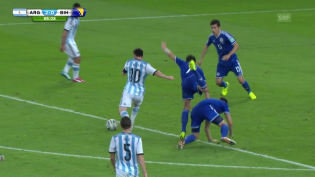 Video «FIFA WM 2014: Argentinien - Bosnien: Die Highlights» abspielen