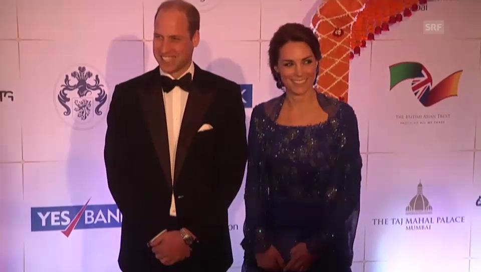 William und Kate am Gala-Dinner (unkomm.)