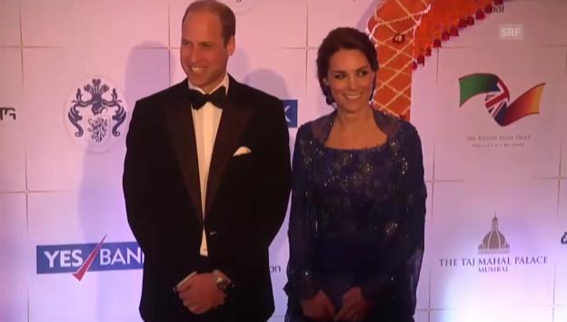 Video «William und Kate am Gala-Dinner (unkomm.)» abspielen