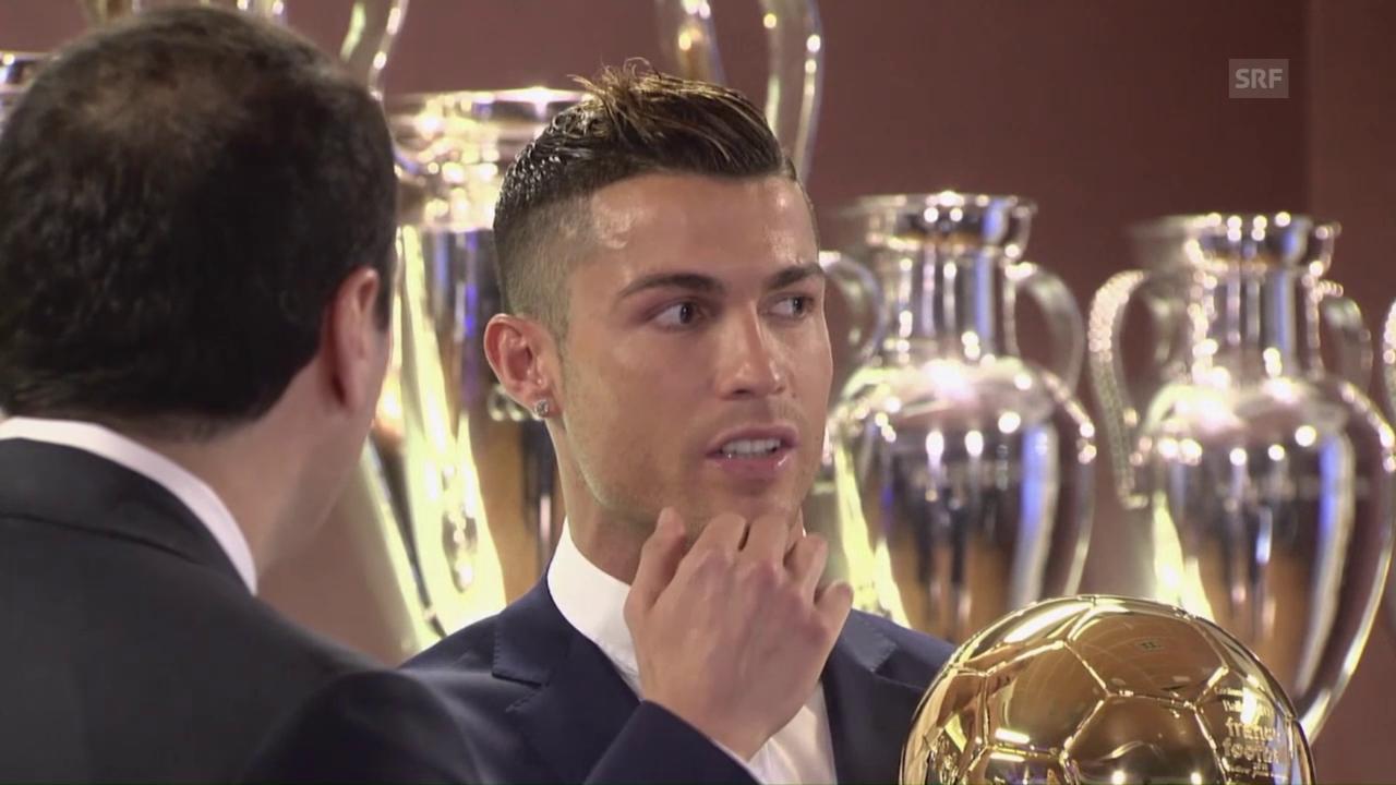 Ballon d'Or für Ronaldo (englisch; Quelle: SNTV)
