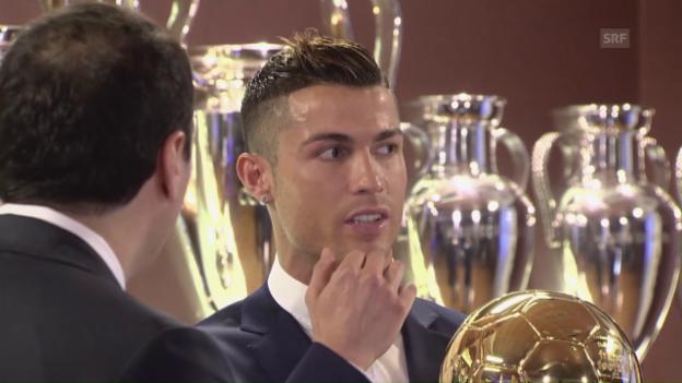 Video «Ballon d'Or für Ronaldo (englisch; Quelle: SNTV)» abspielen