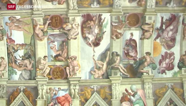Video «7000 LED-Lampen in Sixtinischen Kapelle» abspielen
