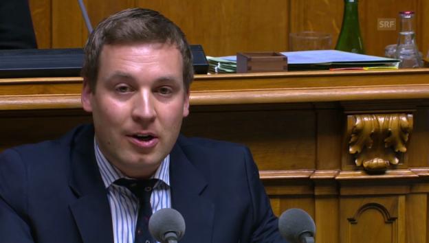 Video «Lukas Reimann (SVP/SG): «Staat ist raffgieriger Monopolist»» abspielen