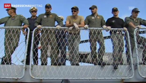 Video «Verstärkung der Küsten-Überwachung (Tagesschau Mittag, 13.10.2013)» abspielen