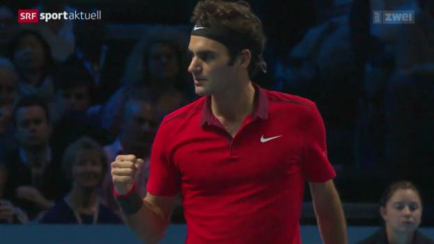 Video «Tennis: ATP World Tour Finals, Federer - Nishikori» abspielen