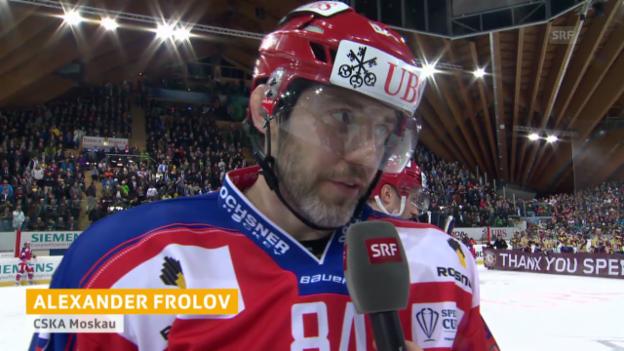 Video «Eishockey, Spengler Cup: ZSKA-Reaktionen nach dem Final («sportlive», 31.12.13)» abspielen