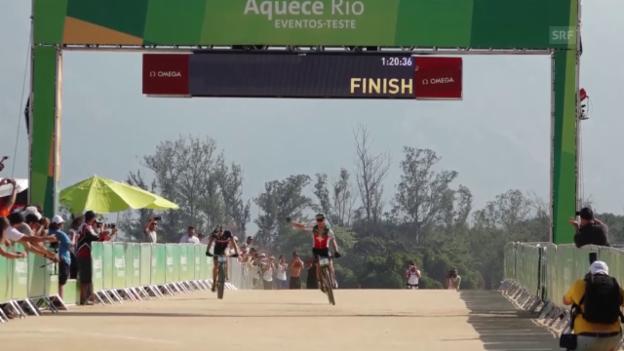 Video «Mountainbike: Cross Country, Pre-Olympia-Rennen» abspielen