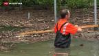 Video «Noch immer herrscht Hochwassergefahr» abspielen