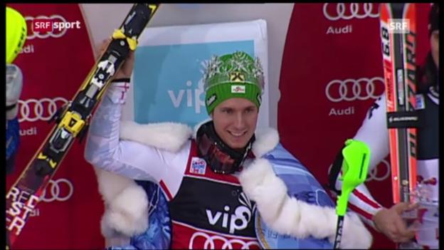Video «Männer-Slalom in Zagreb» abspielen