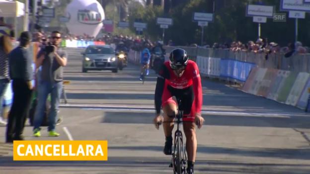 Video «Cancellara wird Zweiter im Zeitfahren («sportlive»)» abspielen