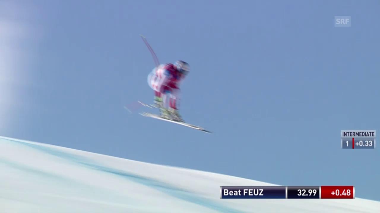Beat Feuz mit gutem Test auf der Olympia-Strecke