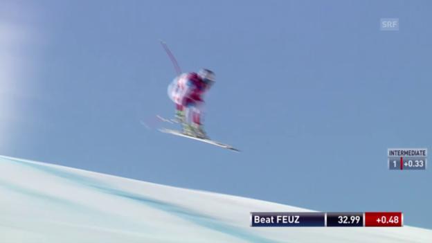 Video «Beat Feuz mit gutem Test auf der Olympia-Strecke» abspielen