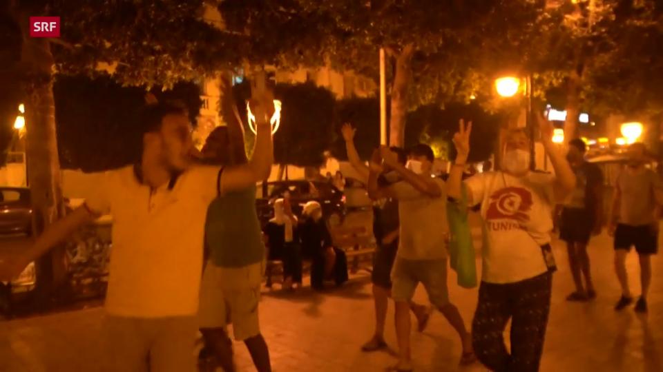 Jubelrufe und Hupkonzerte in Tunis