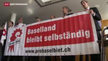 Video «Baselbiet fegt Wiedervereinigung vom Tisch» abspielen