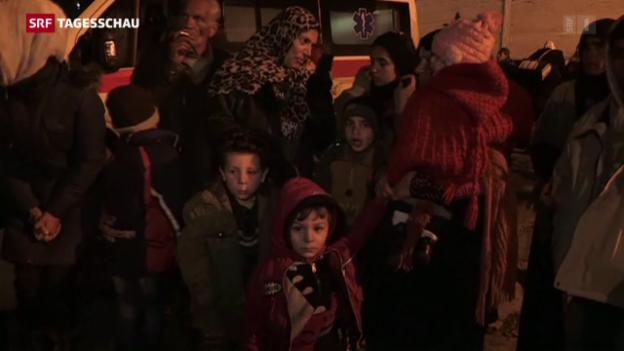 Video «Menschen in Madaja in schlechtem Gesundheitszustand» abspielen