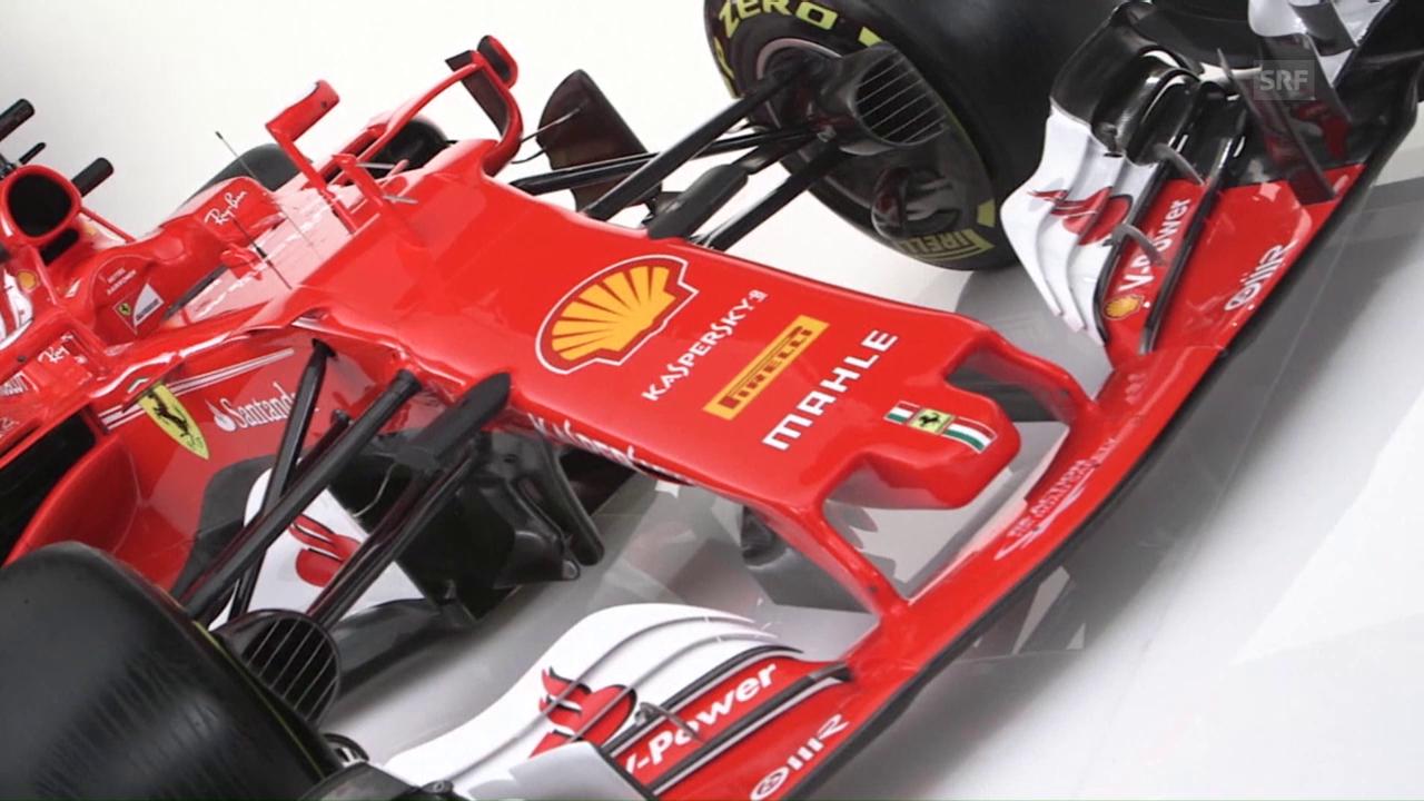 Impressionen vom neuen Ferrari mit Einschätzung von Vettel (SNTV)