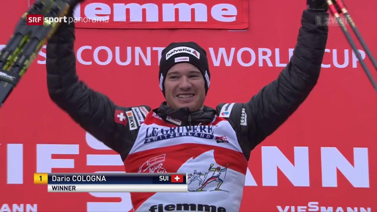 Dario Cologna triumphiert an der Tour de Ski