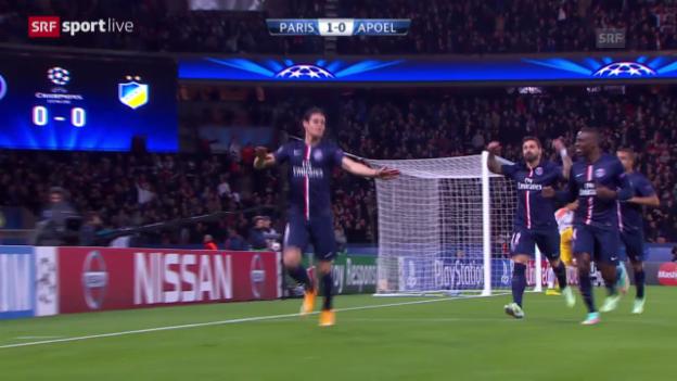 Video «Fussball: Champions League, PSG - APOEL Nikosia» abspielen