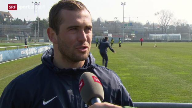 Video «FCZ-Stürmer Alexander Kerschakow vor dem Derby gegen GC» abspielen