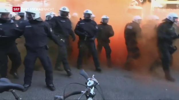 Video «Krawalle in Hamburg» abspielen