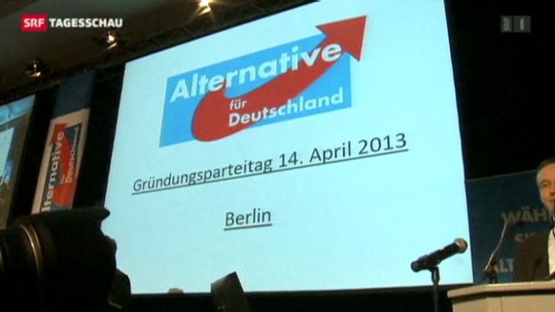 Video «Neue Partei gegründet. (Tagesschau 14.4.2013)» abspielen