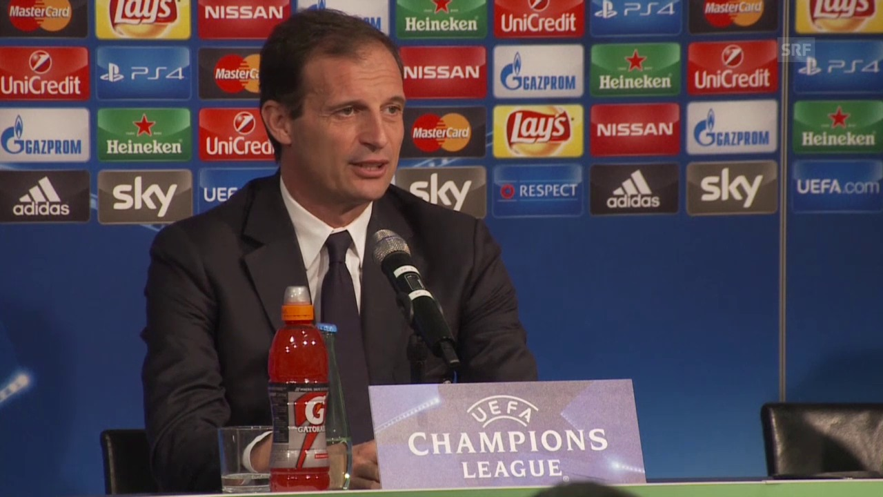 Fussball: CL, Gladbach - Juventus, MK mit Massimiliano Allegri
