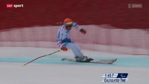 Video «Ski: Kombination der Männer, Super-G» abspielen