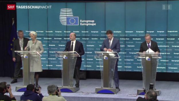 Video «In letzter Minute: Eurogruppe und Athen einig» abspielen