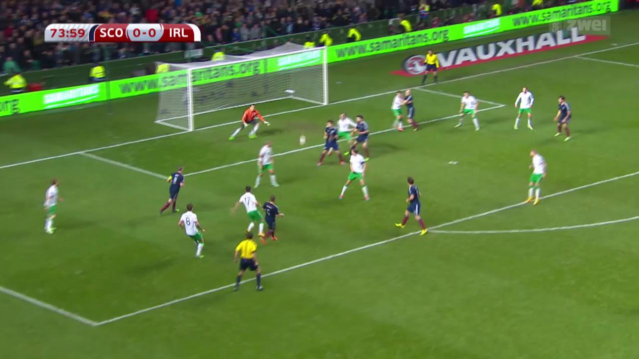 Fussball: EM-Qualifikation, Zusammenfassung Schottland - Irland