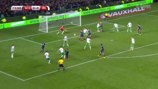 Video «Fussball: EM-Qualifikation, Zusammenfassung Schottland - Irland» abspielen