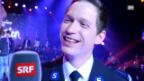 Video «Heilsarmee-Sänger Christoph Jakob nach dem Sieg an der ESC-Entscheidungsshow» abspielen