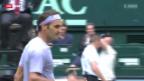 Video «ATP Halle: Federer - Stebe» abspielen