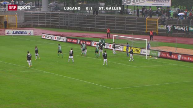 Video «Cup: Lugano - St. Gallen» abspielen