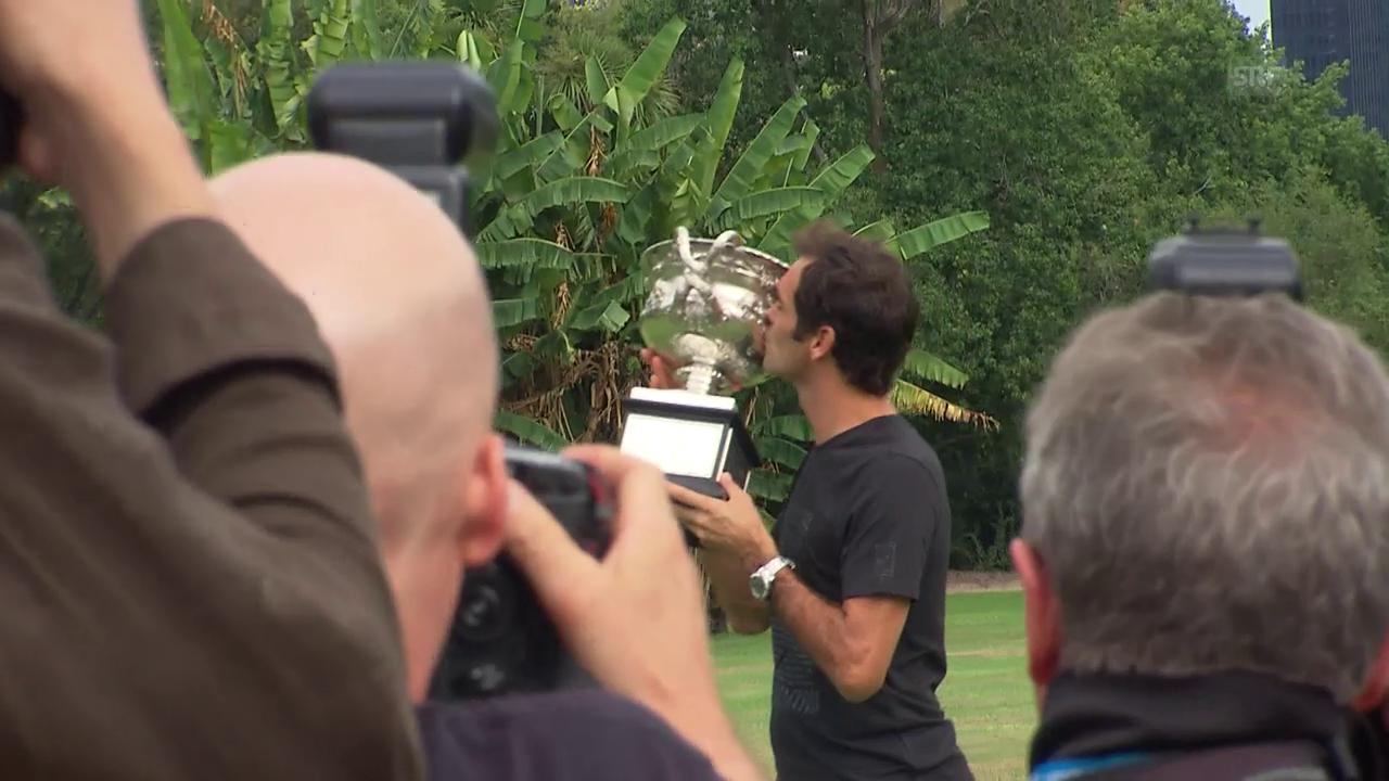 Federer im Blitzlichtgewitter