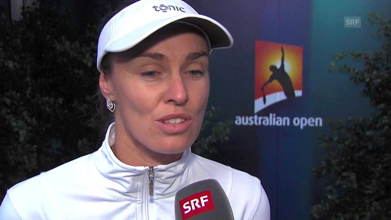 Martina Hingis nach dem Out im Mixed-Doppel: «War schon komisch, gegen Sania Mirza zu spielen»