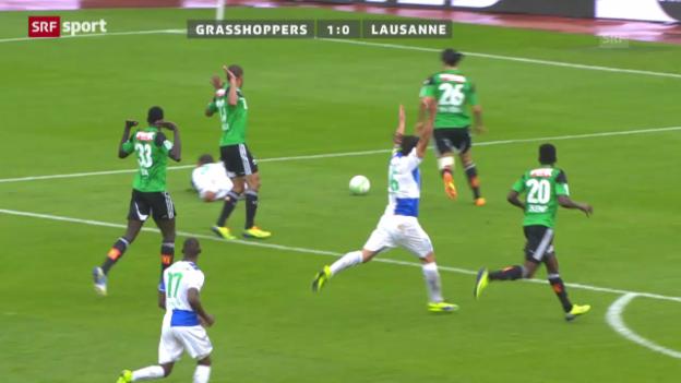 Video «Zusammenfassung GC - Lausanne («sportpanorama»)» abspielen