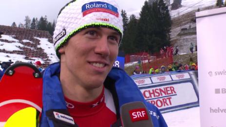Video «Ramon Zenhäusern nach seinem starken 7. Rang in Adelboden» abspielen