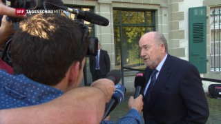 Video «Sepp Blatter vor Internationalem Sportgericht» abspielen