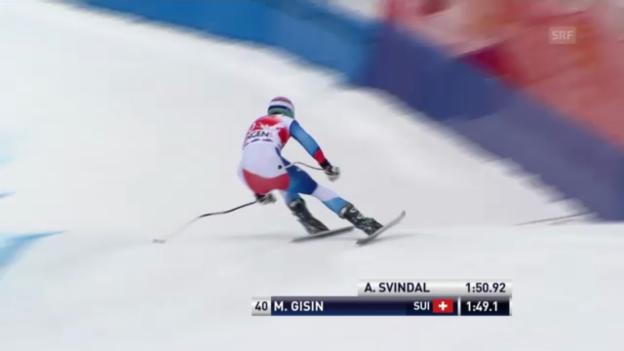 Video «Ski alpin: Marc Gisin im 1. Training zur Lauberhorn-Abfahrt (unkommentiert)» abspielen