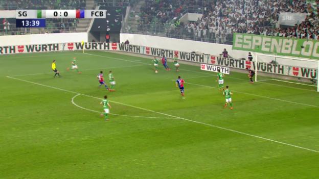 Video «Fussball: Embolos Vorlagen gegen St. Gallen im Cup» abspielen
