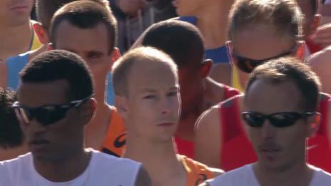 Video «Leichtathletik-EM: Der Startschuss zum Männer-Marathon» abspielen