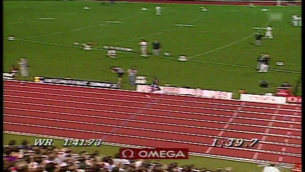 Weltklasse Zürich 1997: Kipketers Weltrekord über 800m