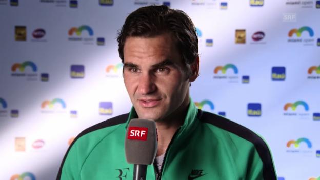 Video «Federer: «Dieser Match hat grossen Spass gemacht»» abspielen